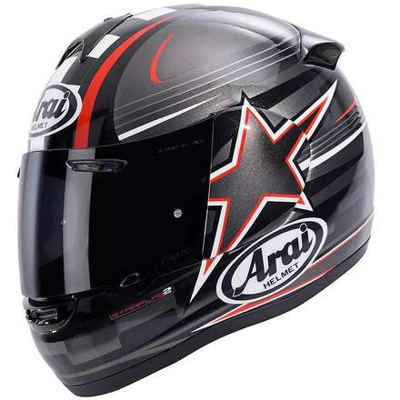 Casco Axces II Starflag Red Arai