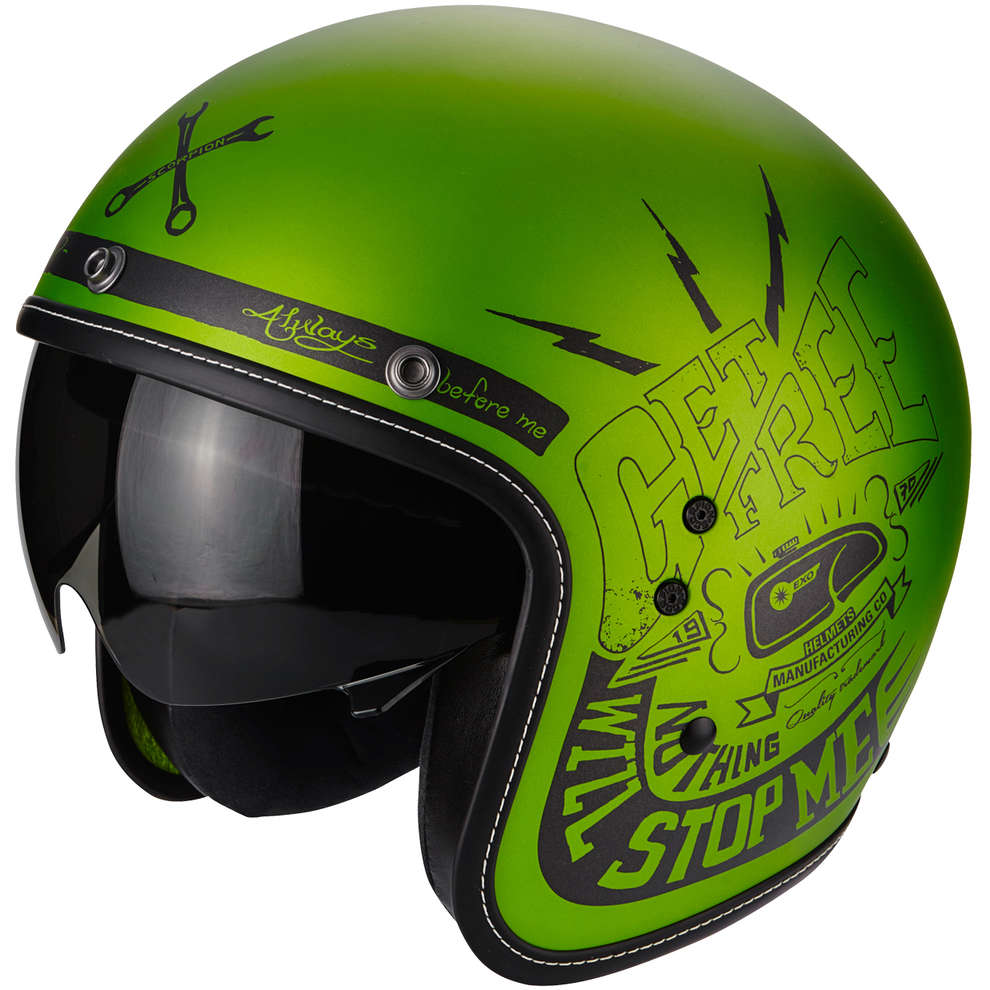 Casco Belfast Fender verde Scorpion