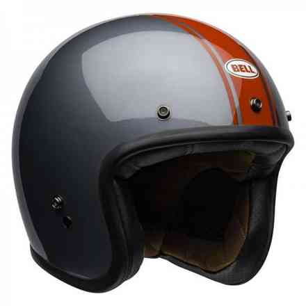 Casco Bell Custom 500 Rally Gloss Gray/Red Bell