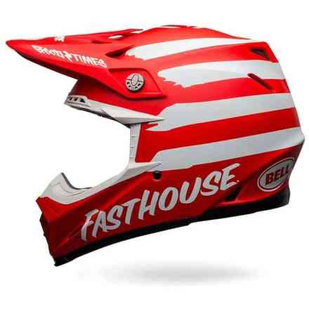 Casco Bell Moto-9 Mips Fasthouse Signia rosso Bell