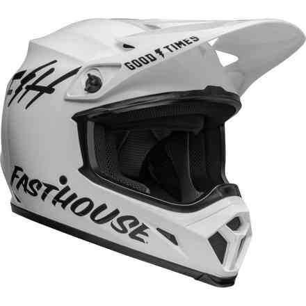 Casco BELL Mx-9 Mips Fasthouse Bianco Nero Bell