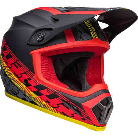 Casco BELL Mx-9 Mips Offset Nero Opaco Rosso Bell