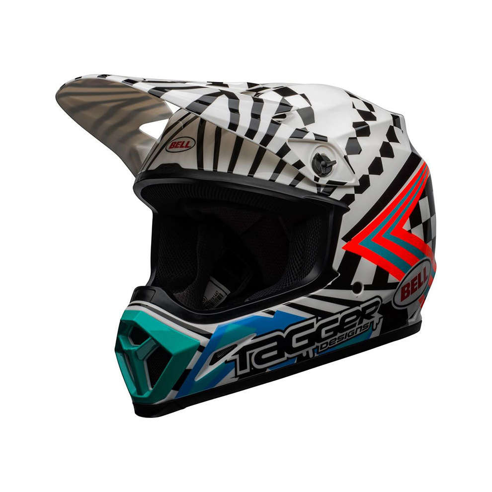 Casco Bell Mx-9 Mips Tagger Biano / Nero Bell