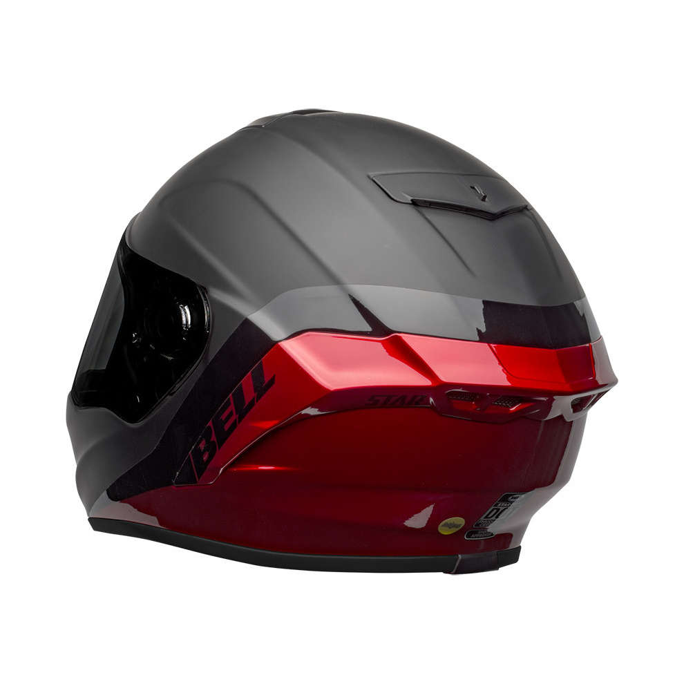 Casco Bell Star Dlx Mips Shockwave Nero Rosso Bell