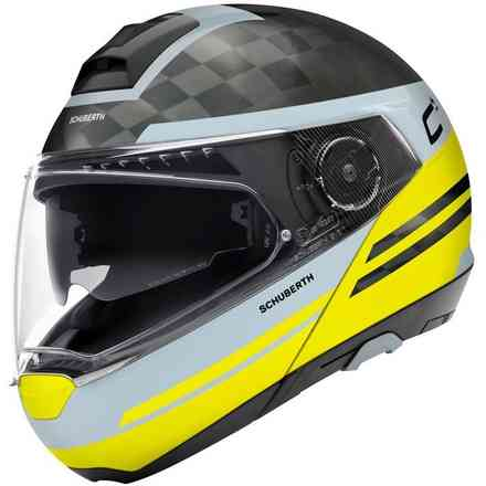Casco C4 Pro Carbon  Tempest giallo Schuberth
