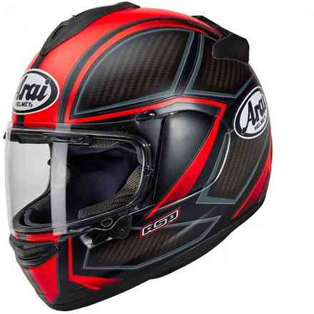Casco Chaser-X Spine rosso fluo Arai