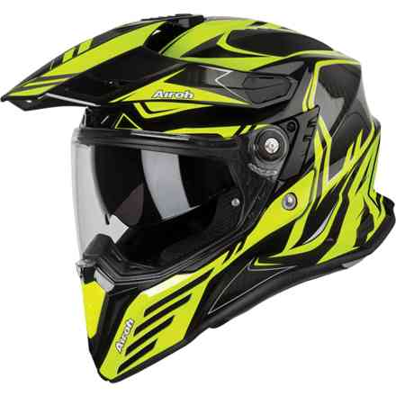 Casco Commander Carbon Giallo Airoh
