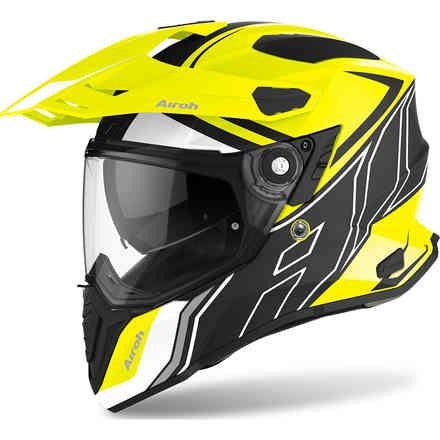 Casco Commander Duo Giallo Opaco Airoh