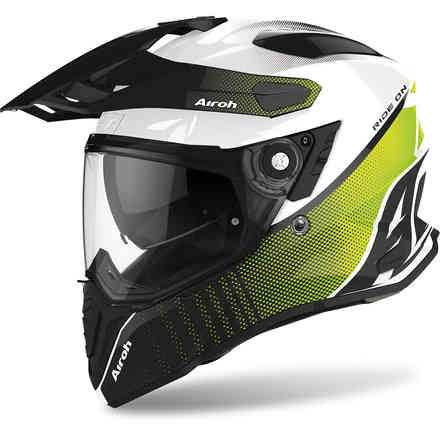 Casco Commander Progress Lime Lucido Airoh
