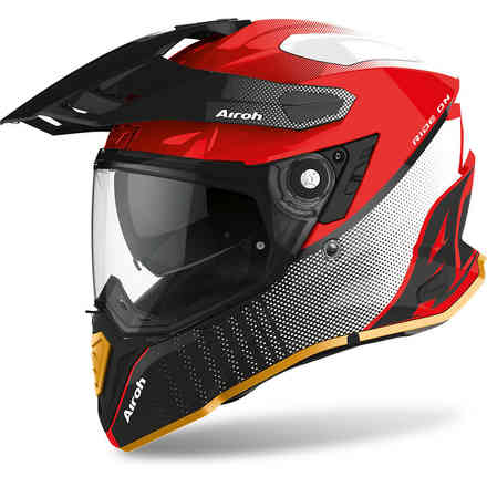 Casco Commander Progress Limited Rosso Airoh