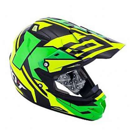 Casco Cross Over Ktime Giallo-Verde Fluo  KYT