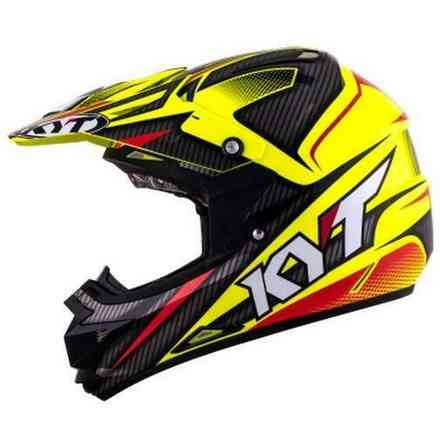 Casco Cross Over Power nero-gialloFluo KYT