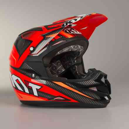 Casco Cross Over Power nero-rosso KYT