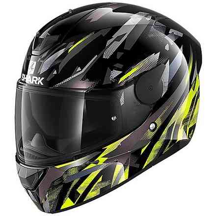 Casco D-Skwal 2 Kanhji nero  giallo antracite Shark