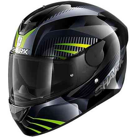 Casco D-Skwal 2 Mercurium nero antracite verde Shark