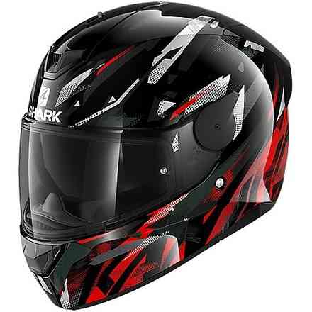 Casco D-Skwal 2 nero bianco rosso Shark