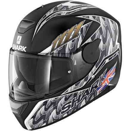 Casco D-Skwal Fogarty Mat Nero Shark