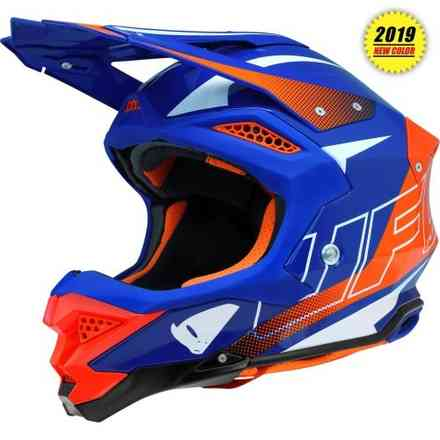Casco Diamond Arancio Blu Ufo