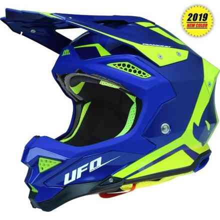 Casco Diamond Blu Giallo Ufo