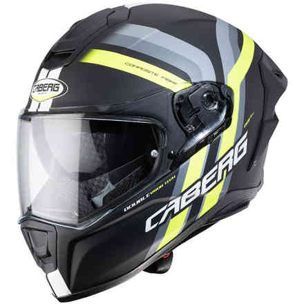 Casco Drift Evo Vertical nero opaco giallo fluo antracite Caberg