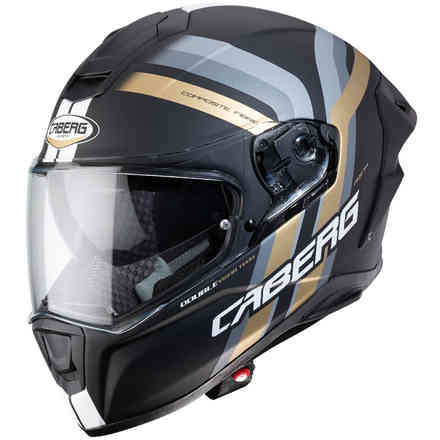 Casco Drift Evo Vertical nero opaco oro antracite Caberg