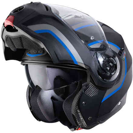 Casco Droid Pure nero opaco antracite blu Caberg