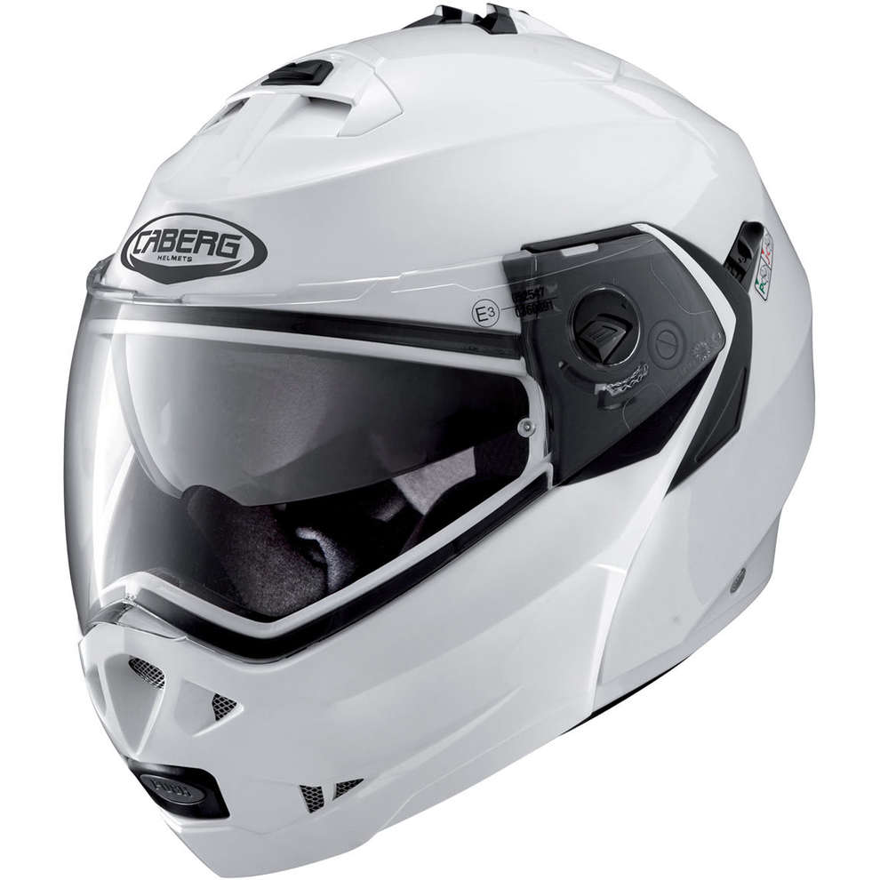 Casco Duke II metal white Caberg