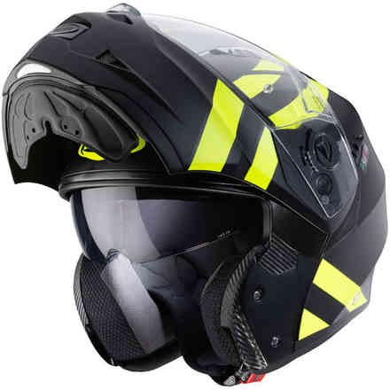 Casco Duke II Superlegend nero opaco giallo fluo Caberg