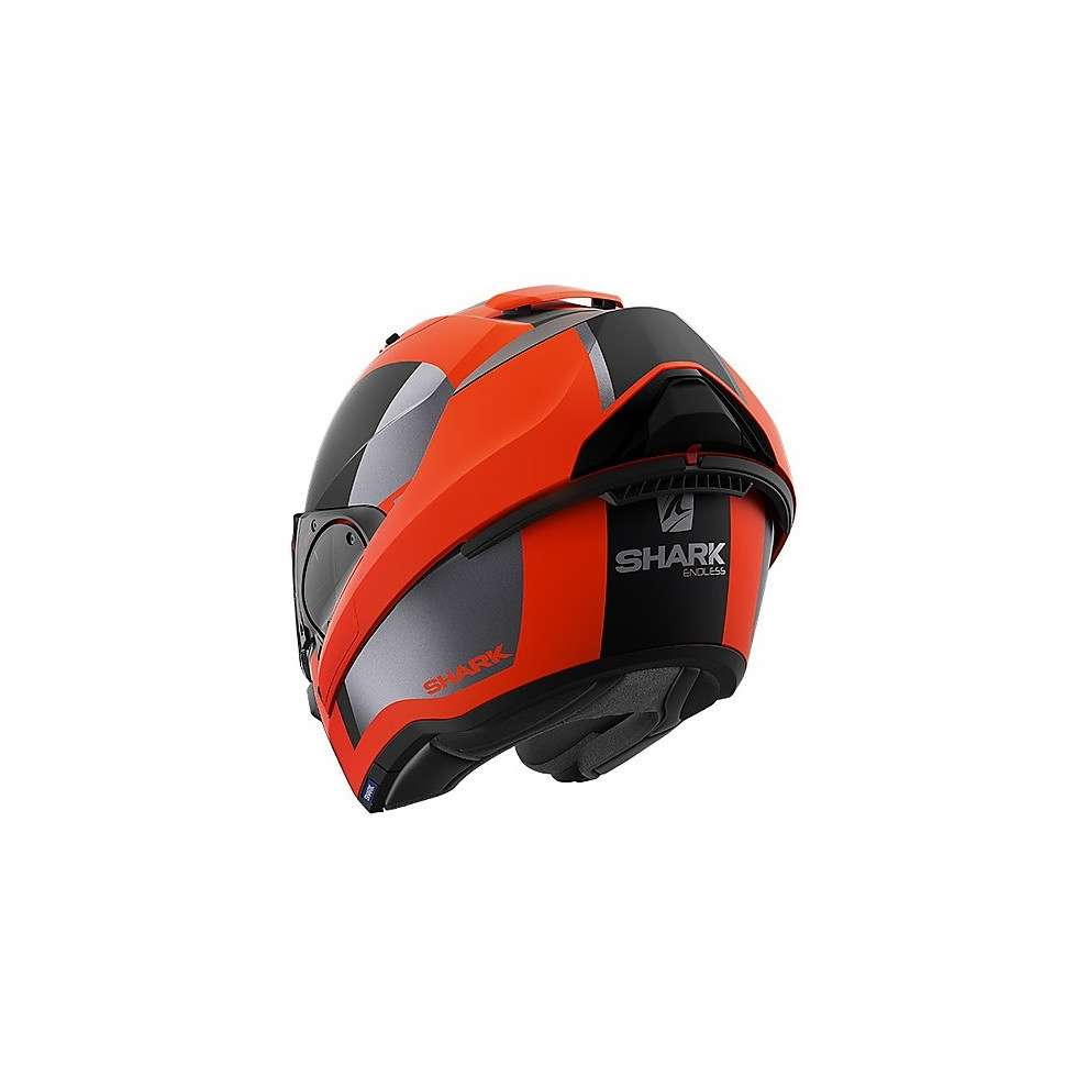 Casco Evo Es Endless opaco arancio nero nero Shark