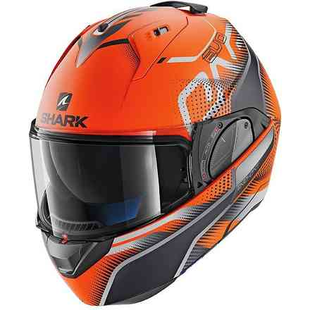 Casco Evo-One 2 Keenser Opaco Arancio-nero-antracite Shark