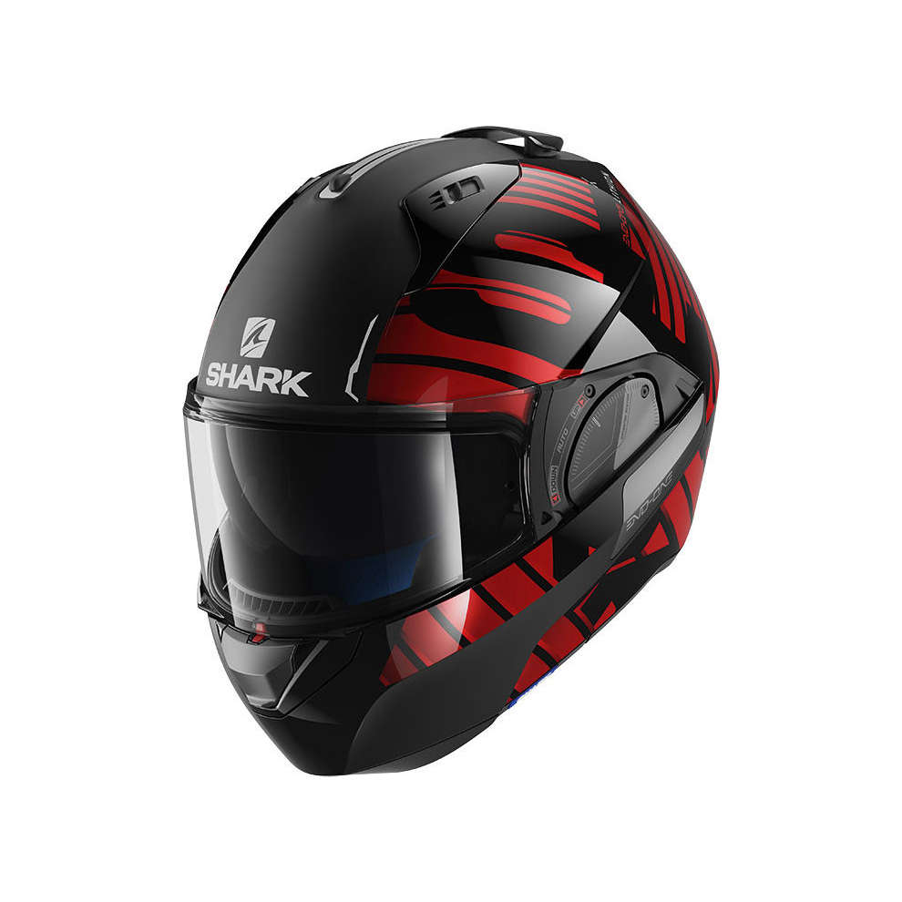 Casco Evo-One 2 Lithion Dual Nero/ Cromato Rosso Shark