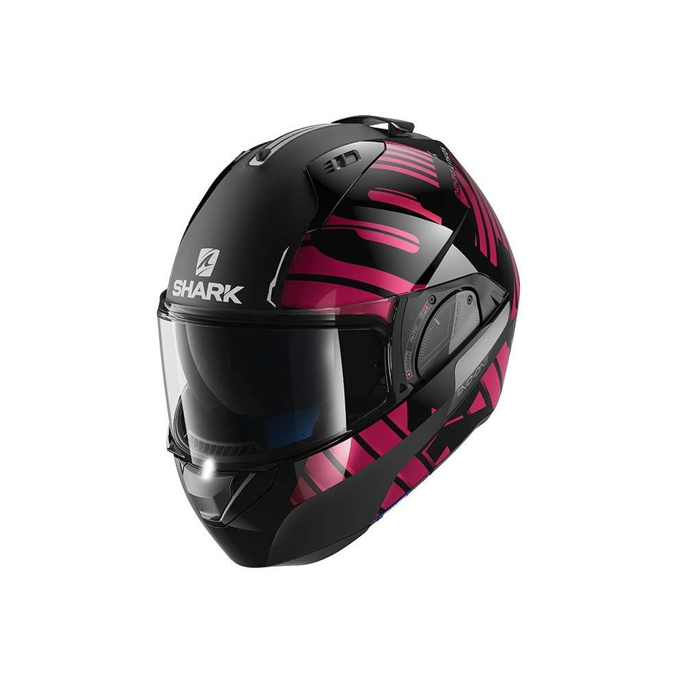Casco Evo-One 2 Lithion Dual nero- cromo fucsia Shark