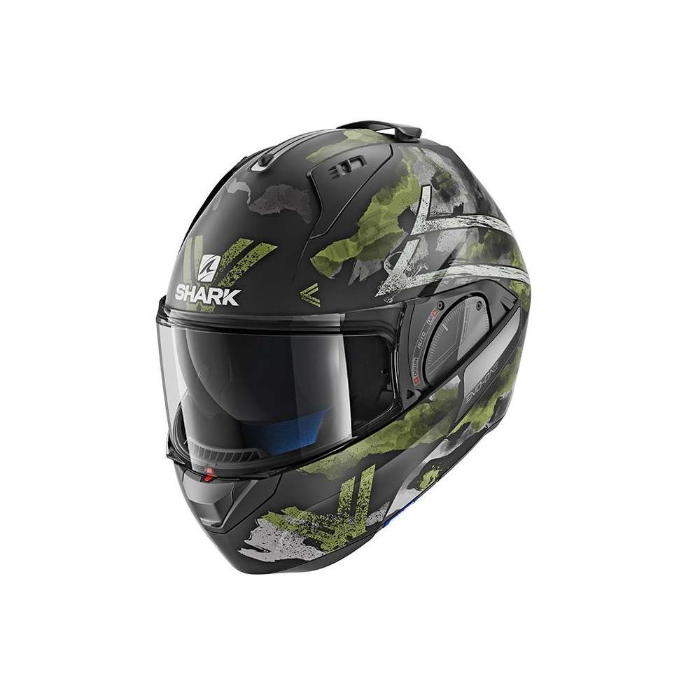 Casco Evo-One 2 Skuld Nero opaco-verde-antracite Shark