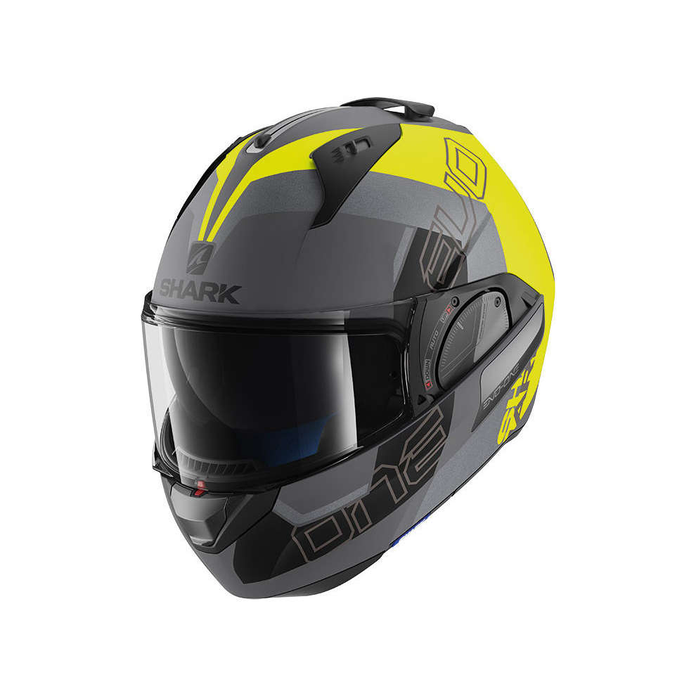 Casco Evo-One 2 Slasher Mat Antracite Opaco/ Giallo Nero Shark