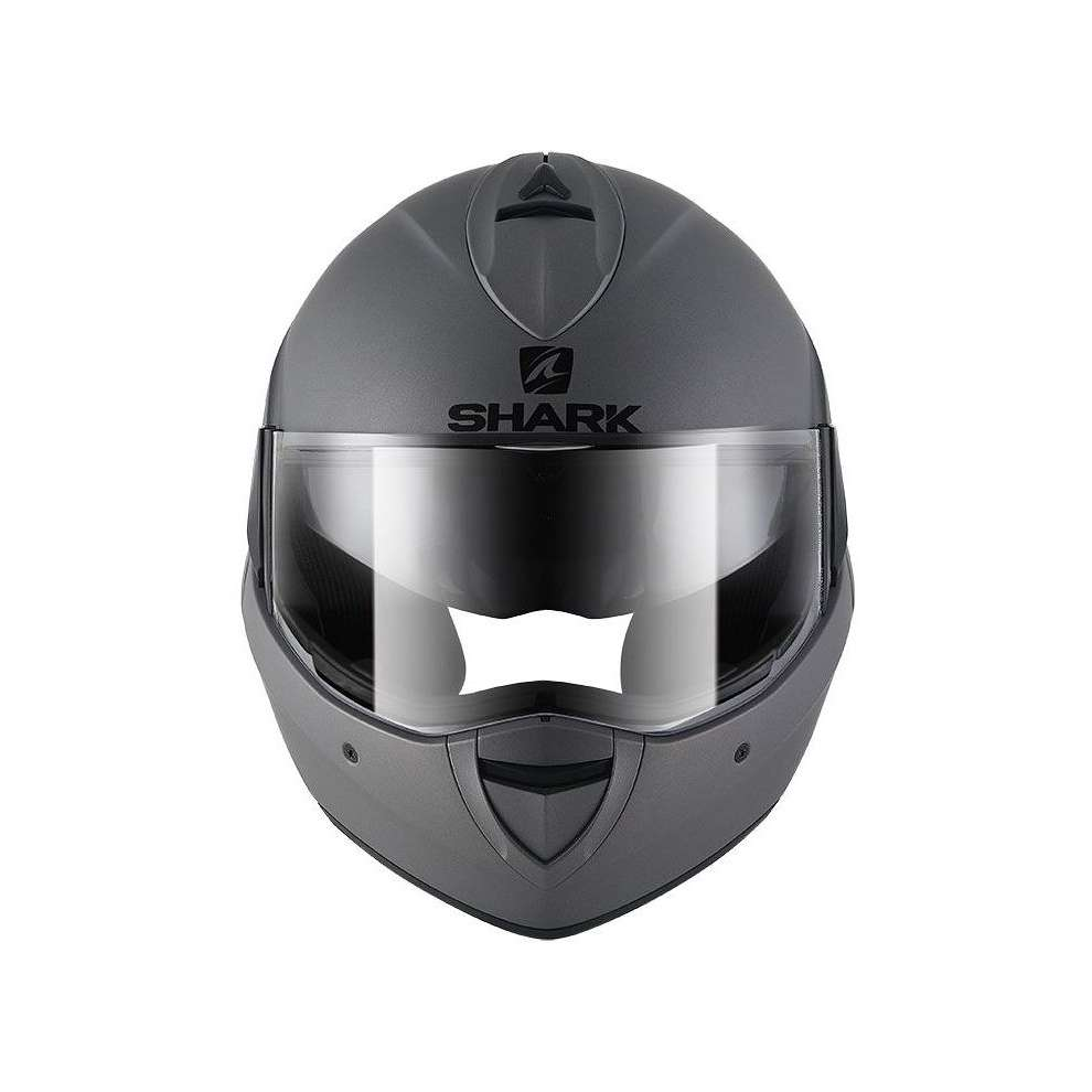 Casco Evoline 3 Blank Mat Nero Shark