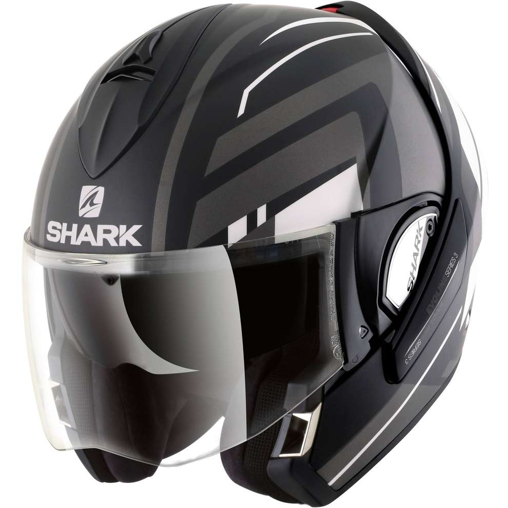 Casco Evoline 3 Corvus Mat Nero Shark