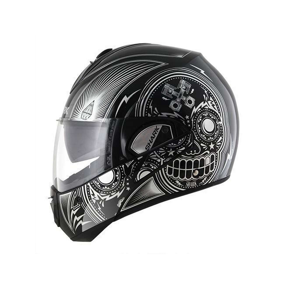 Casco Evoline 3 Mezcal Chrome Shark