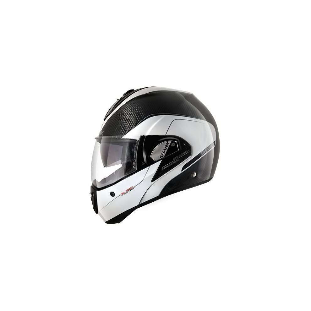 Casco Evoline Pro Carbon bianco antracite Shark