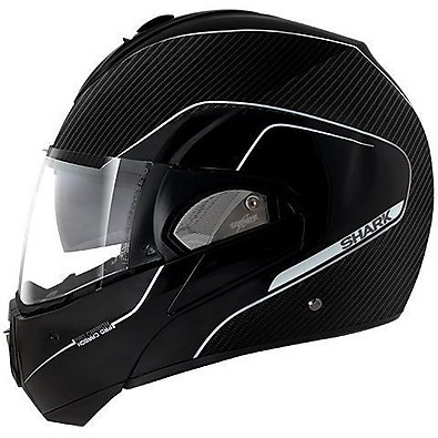 Casco Evoline Pro Carbon Mat nero-argento Shark
