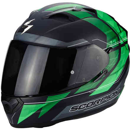 Casco Exo-1200 Air Hornet verde Scorpion