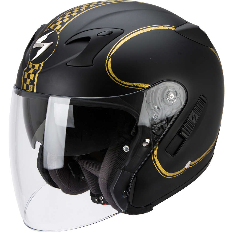 Casco Exo-220  Bixby nero-oro Scorpion
