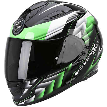 Casco Exo -510 Air Scale nero-verde Scorpion