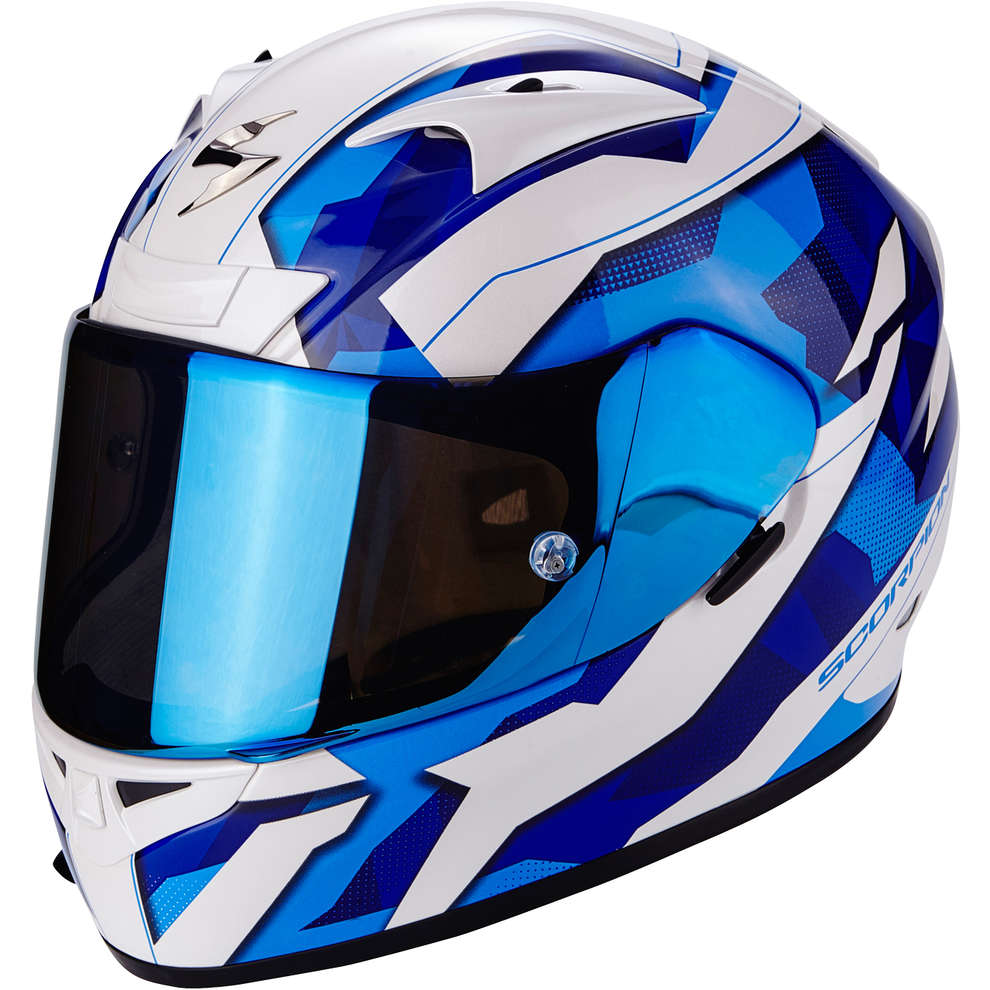 Casco Exo-710 air Furio blu Scorpion