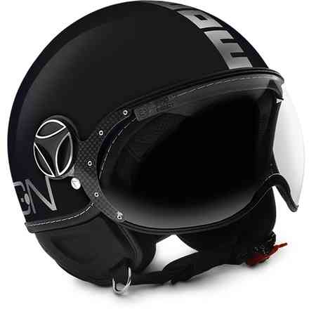 Casco FGTR Evo nero chrome Momo