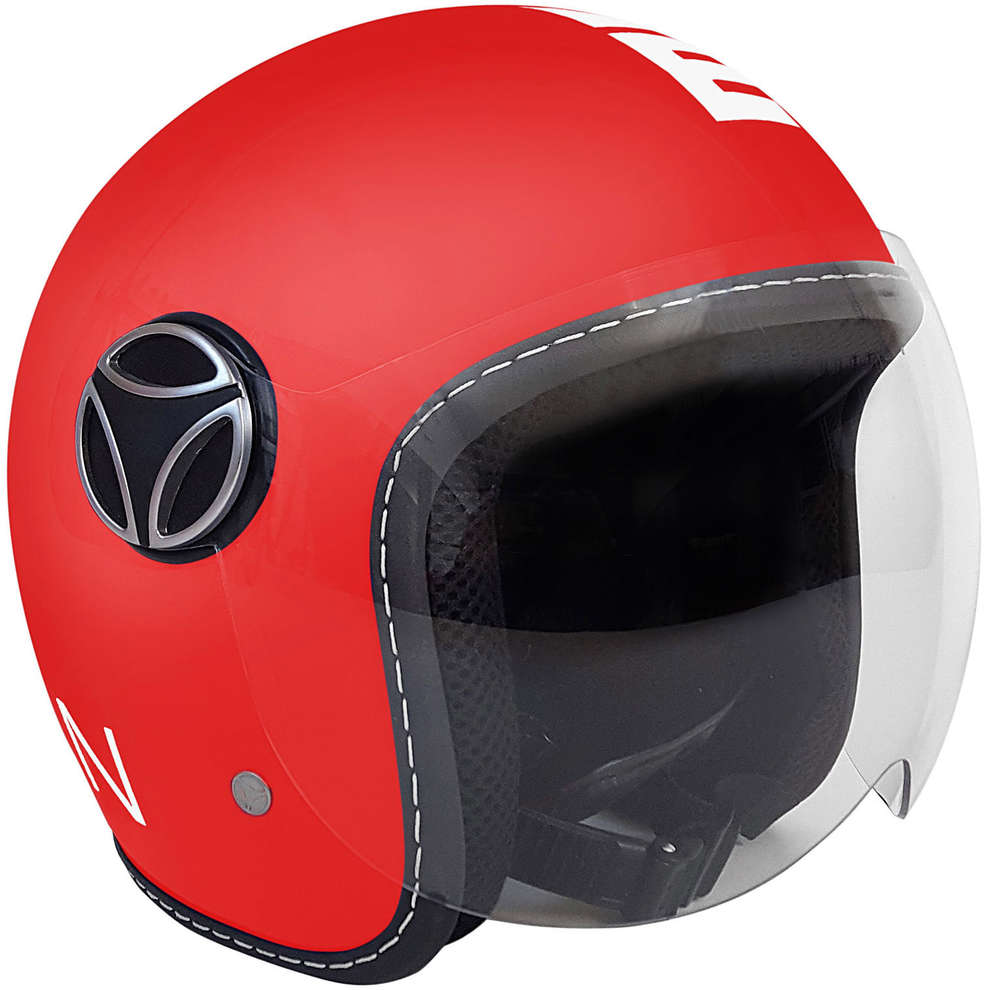 Casco Fighter Baby Rosso Opaco Bianco Momo