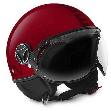 Casco Fighter Classic rosso Bordeaux Momo