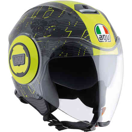 Casco Fluid Top Ibiscus  Agv