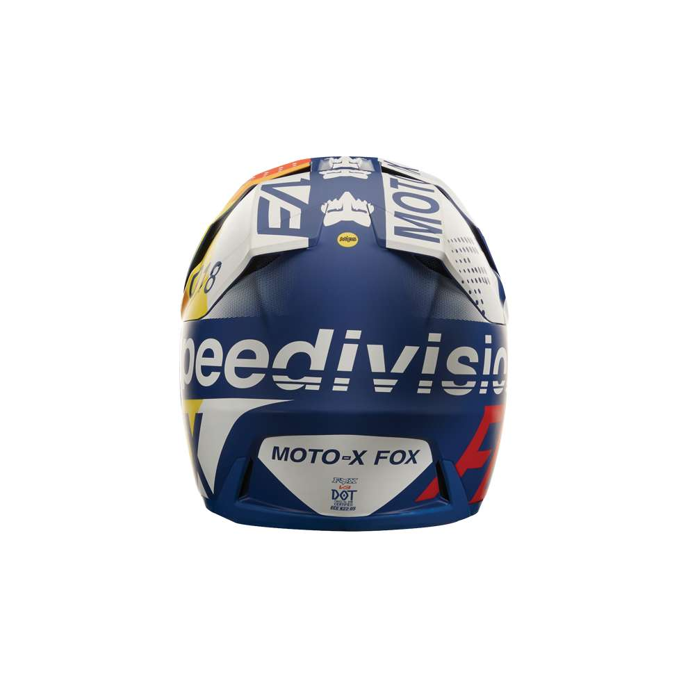 Casco Fox Racing  V3 Draftr Blu Fox