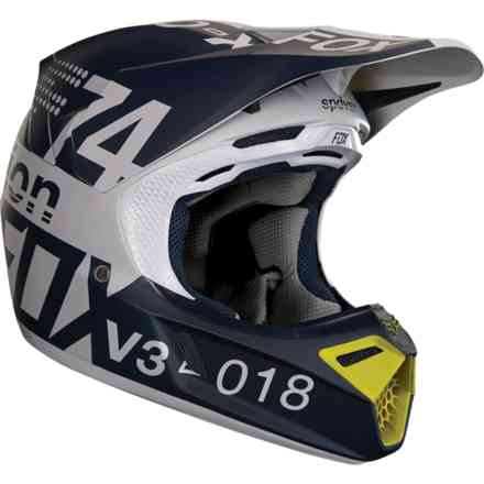 Casco Fox Racing  V3 Draftr Grigio  Fox