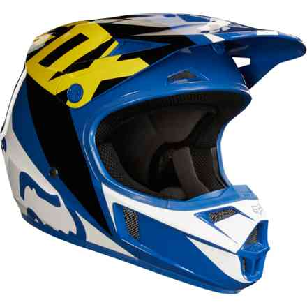 "Casco Fox Racing  ""Yth V1 Race"" Blu Fox"